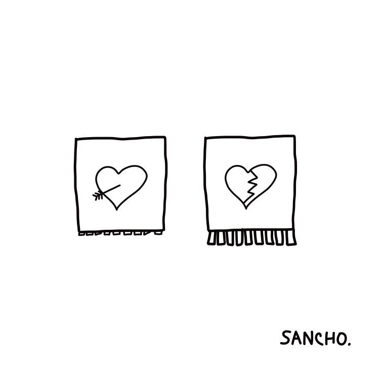 heart in love heart broken